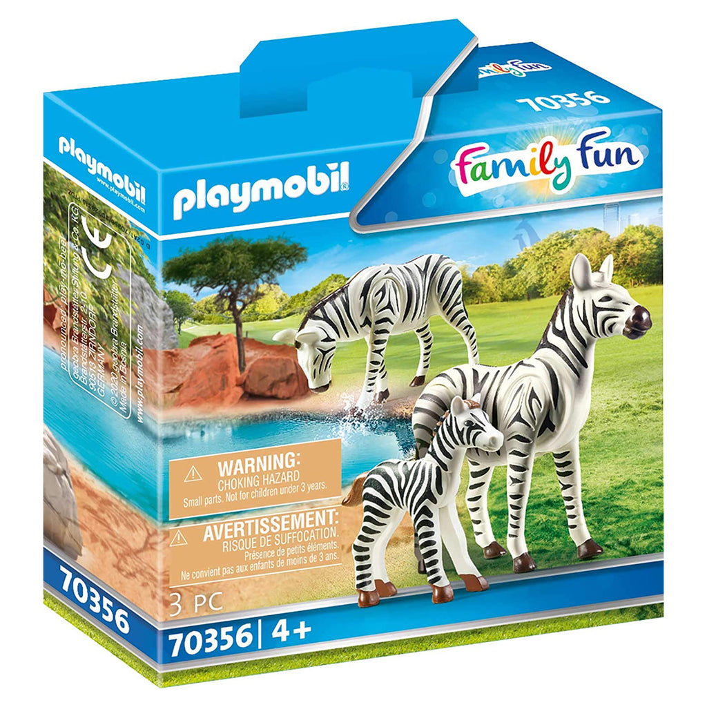Playmobil Zebras With Foal Set 70356