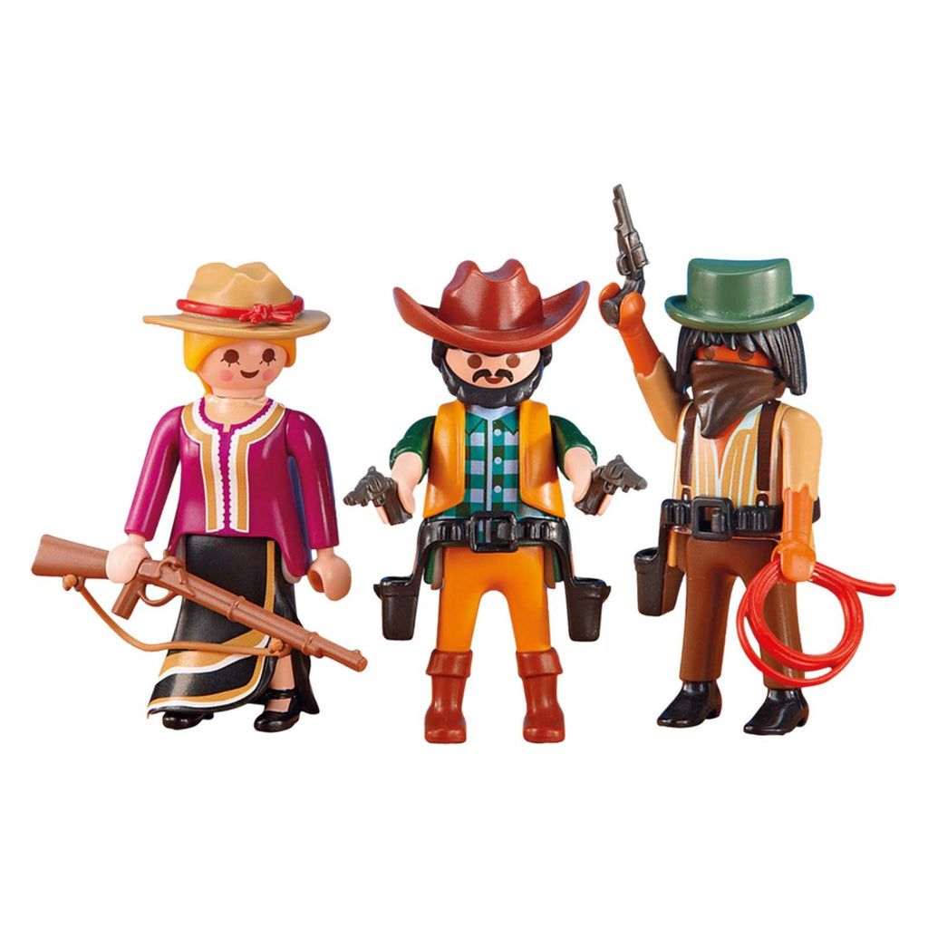 63e6f0eaef5 ... Playmobil 2 Cowboys And 1 Cowgirl Building Set 6278