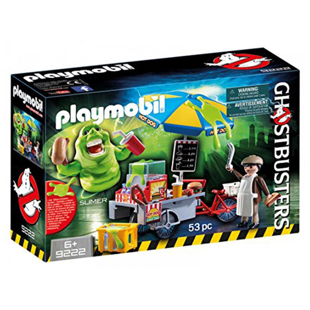 Playmobil Ghostbusters Slimer With Hot Dog Stand Building Set 9222