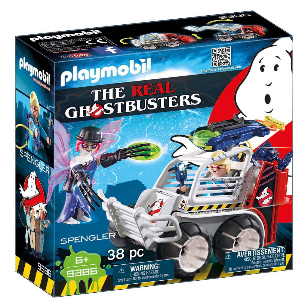 Playmobil Ghostbusters Spengler With Cage Car Building Set 9386