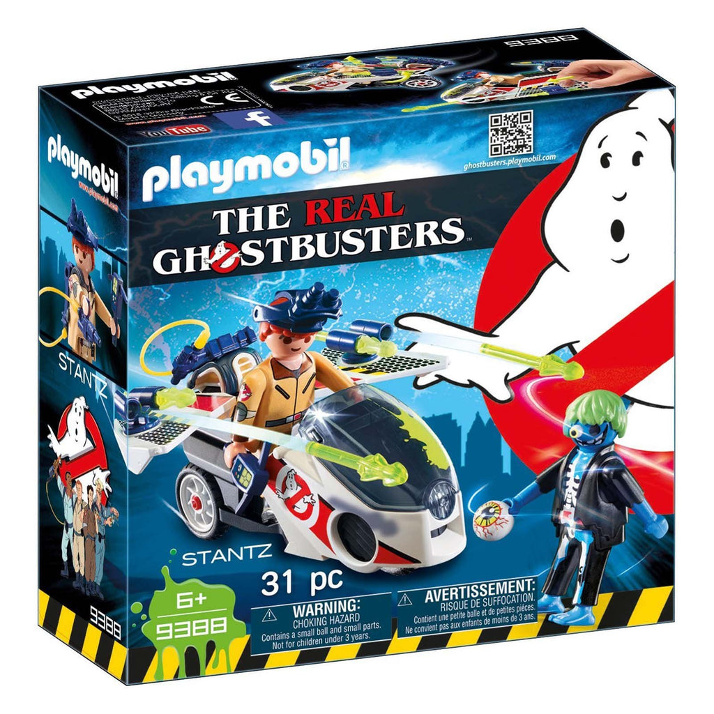Playmobil Ghostbusters Stantz With Skybike Building Set 9388