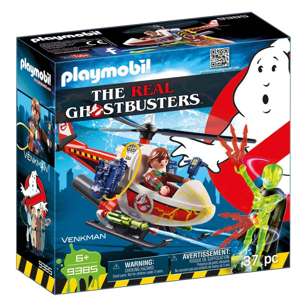 Playmobil Ghostbusters Venkman With Helicopter Building Set 9385