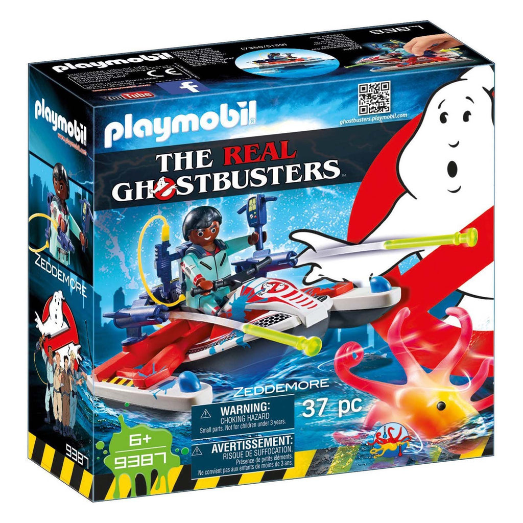 Playmobil Ghostbusters Zeddemore With Aqua Scooter Building Set 9387