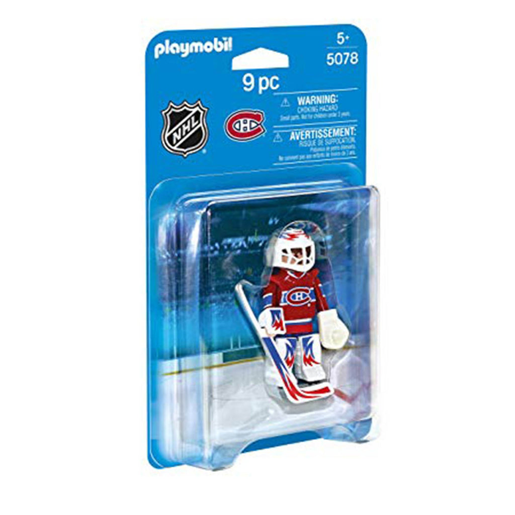 Playmobil - Playmobil NHL Montreal Canadiens Goalie Building Set 5078