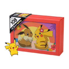 Pokemon Aloha Pikachu And Eevee 108 Piece Jigsaw Puzzle