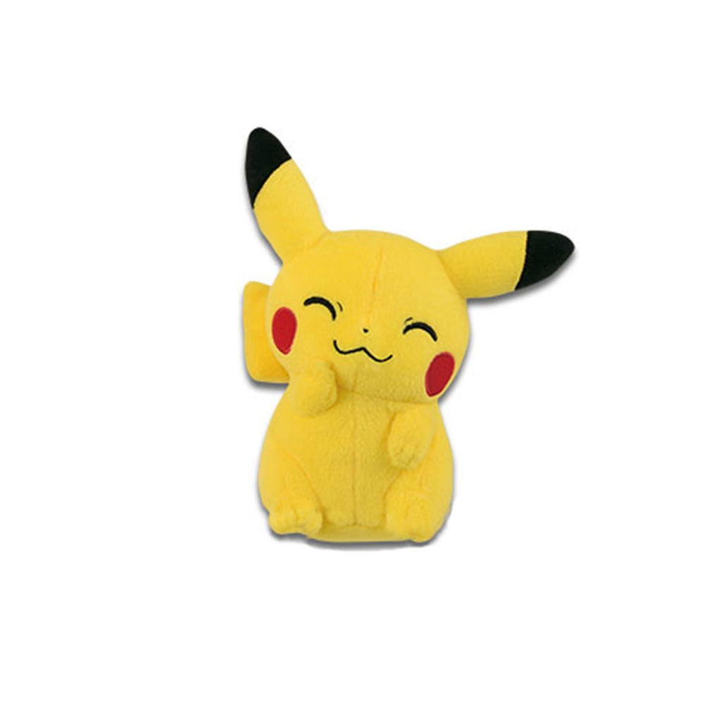 Pokemon Pikachu Mania Waving Pikachu 4 Inch Plush Figure