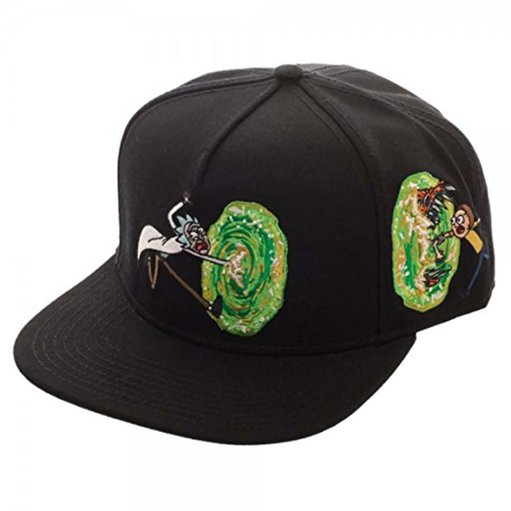 Hats - Rick And Morty Portal Black Snapback Hat