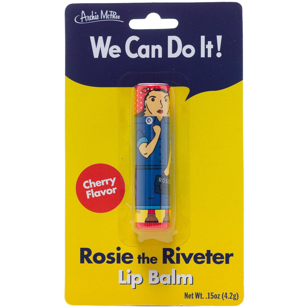 Novelty - Rosie The Riveter Cherry Flavored Lip Balm