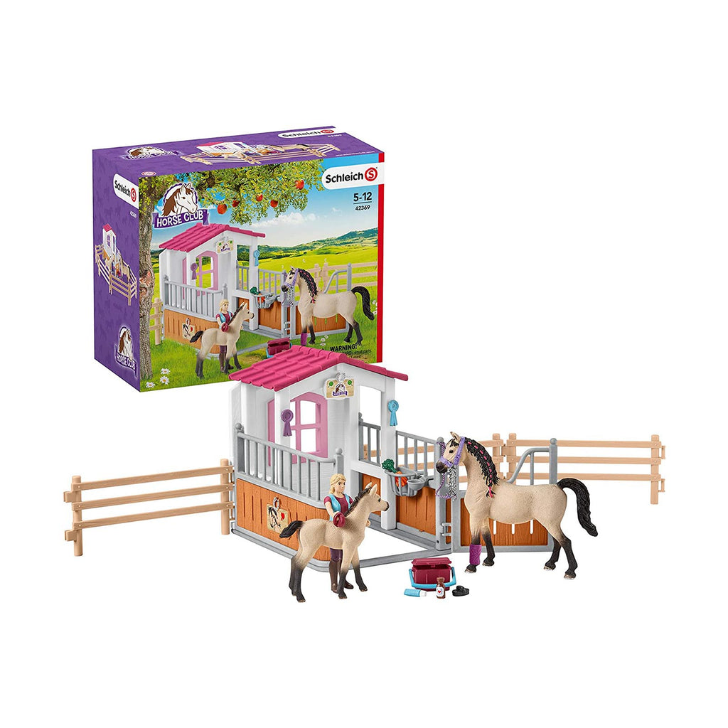 Schleich Horse Club Arab Horses With Stall Animal Figure Set