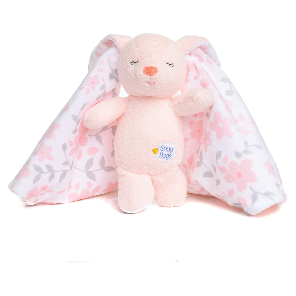 Snug Hugs Pink Bunny Small Plush Blanky