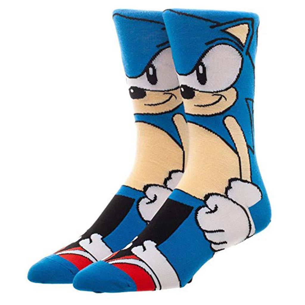 Sonic The Hedgehog Character Collection 1 Pair Of Crew Socks