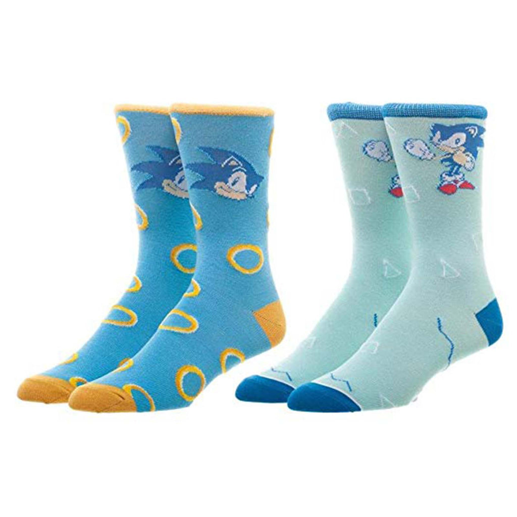 Sonic The Hedgehog Rongs 2 Pairs Of Crew Socks