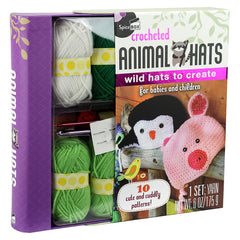 Spice Box Crocheted Animal Hats Set