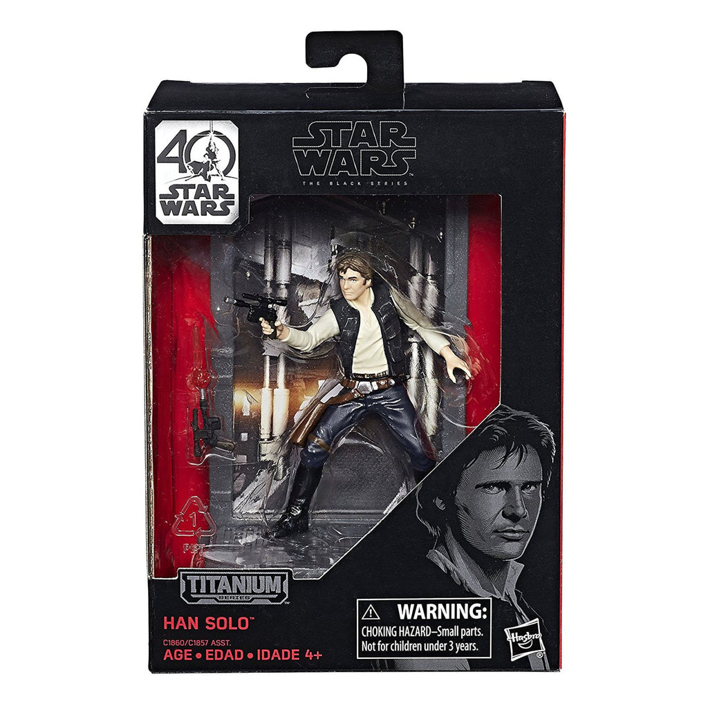 Star Wars Black Series 40th Titanium Han Solo Figure