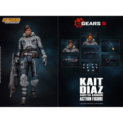 Storm Collectibles Gears Of War 5 Kait Diaz Winter Armor Action Figure