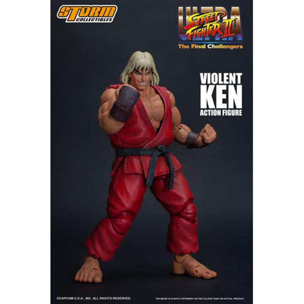 Storm Collectibles Street Fighter II Ultra Final Violent Ken 7 Inch Action Figure
