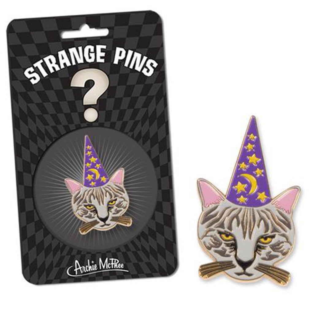 Strange Pins Meowlin Cat Wizard Pin