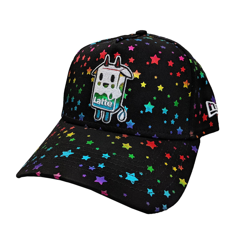 Hats - Tokidoki Latte Star Black Curved Snapback