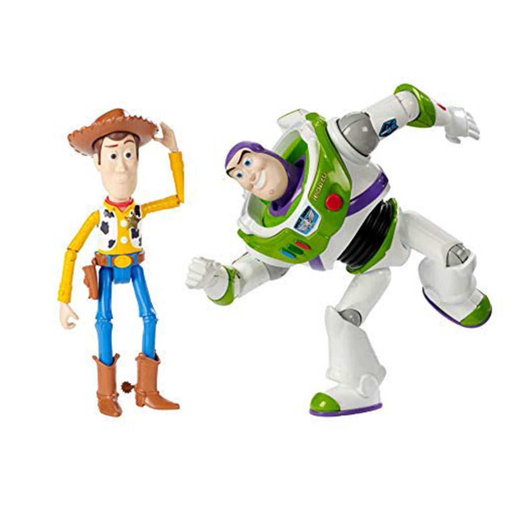 Toy Story Woody And Buzz Lightyear Basic 7 Inch Action Figure Set