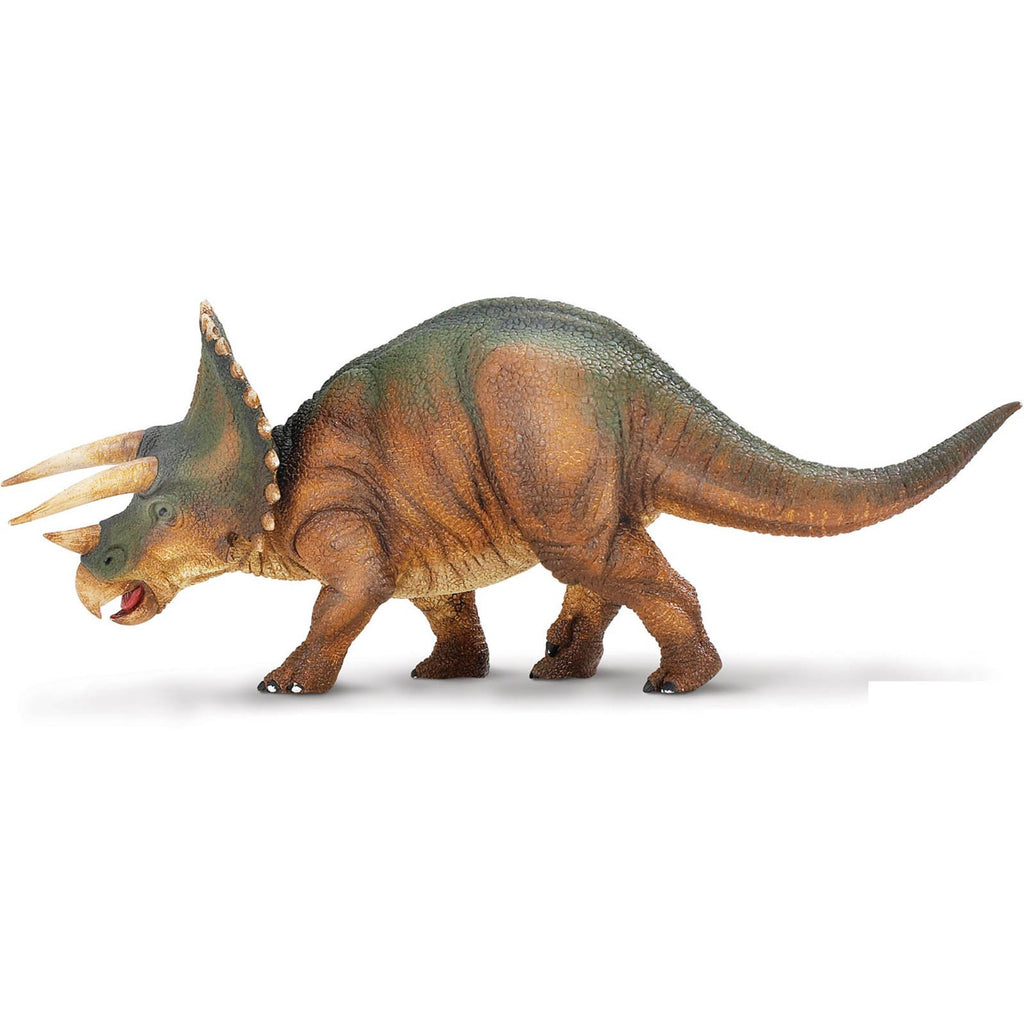 Dinosaur Figures - Triceratops Green Brown Dinosaur Figure Safari Ltd