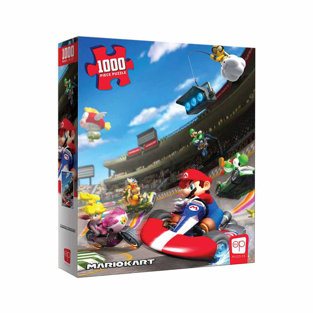 USAopoly Mario Kart Racing On Track 1000 Piece Puzzle