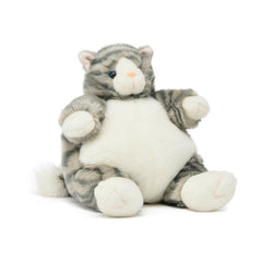 Unipak Plumpee Grey Cat 9 Inch Animal Plush