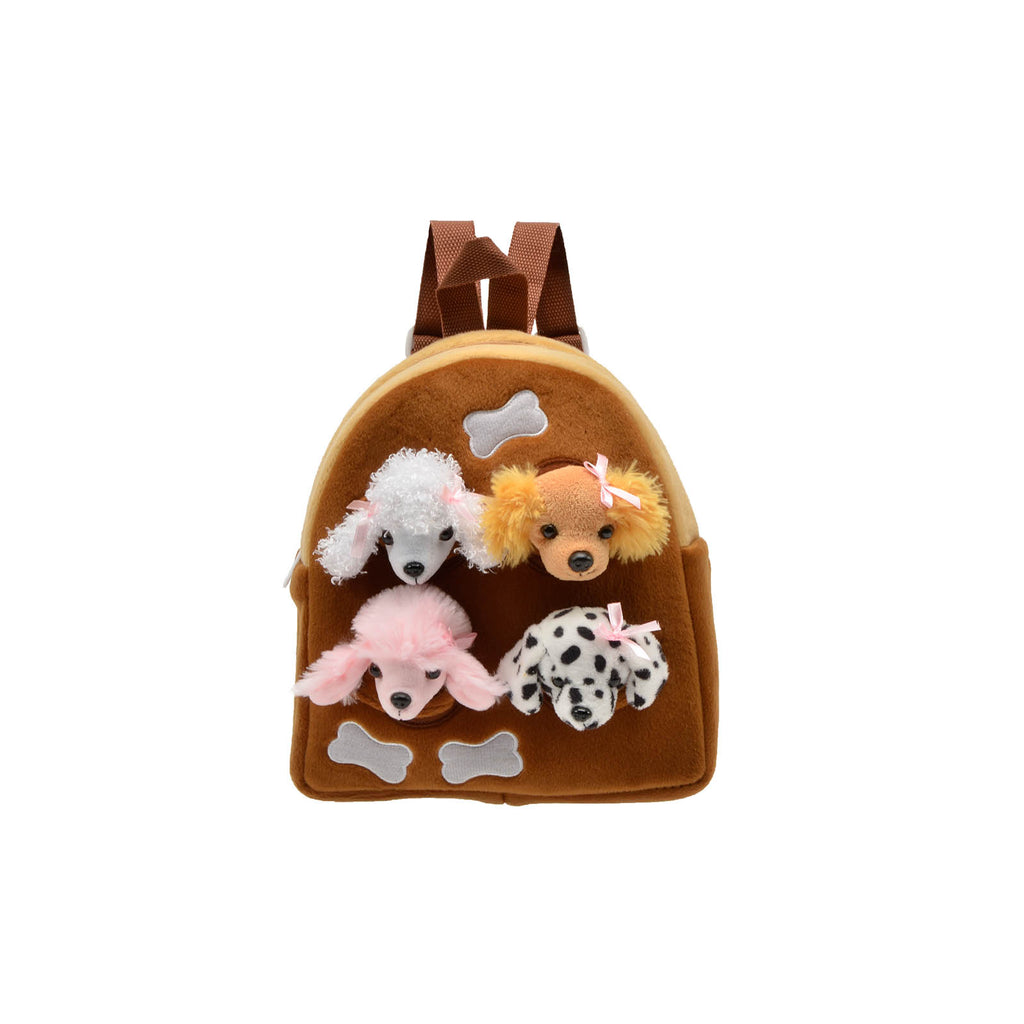 Unipak Dog Animal 11 Inch Plush Backpack Set