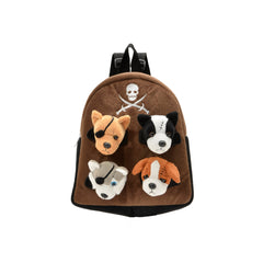 Unipak Pirate Animal 11 Inch Plush Backpack Set