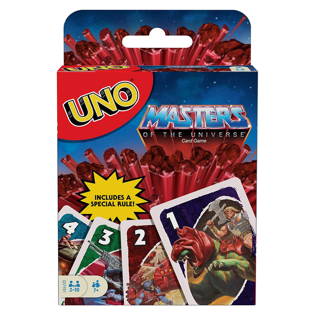 Uno Masters Of The Universe The Card Game