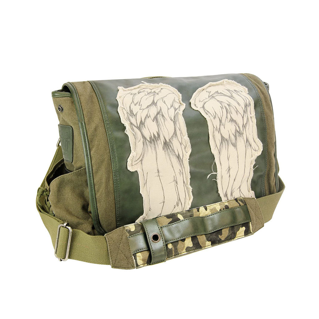 Walking Dead Daryl Dixon Wings Green Messenger Bag
