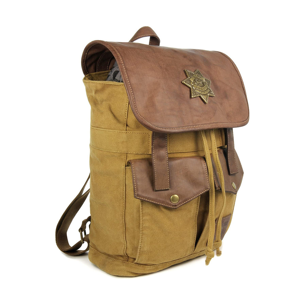 Walking Dead Rick Grimes Brown Sheriff Backpack