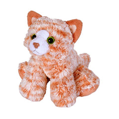 Animal Plush Toys - Wild Republic Hug'ems Mini Orange Tabby Cat 7 Inch Animal Plush Figure