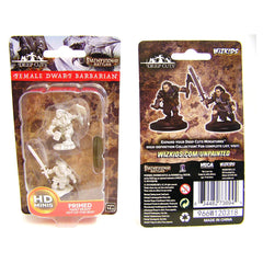 Wizkids Pathfinder Battles Deep Cuts Unpainted Female Dwarf Barbarian Figure Set