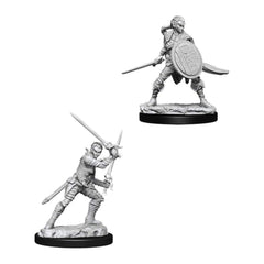 Wizkids Pathfinder Battles Deep Cuts Unpainted Female Elf Fighter Figure Set