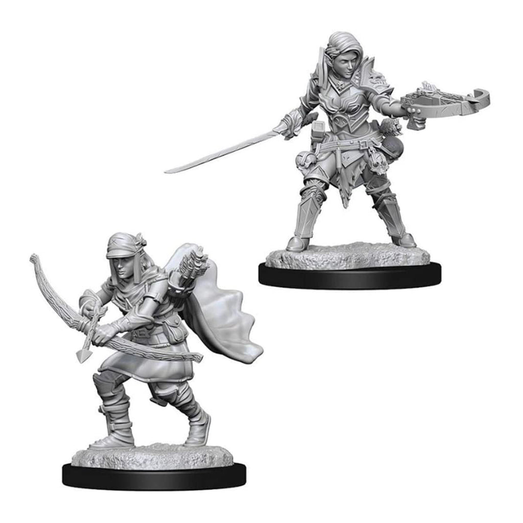 Wizkids Pathfinder Battles Deep Cuts Unpainted Female Half Elf Ranger Figure Set
