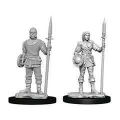 Wizkids Pathfinder Battles Deep Cuts Unpainted Guards Figure Set