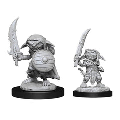 Wizkids Pathfinder Battles Deep Cuts Unpainted Male Goblin Fighter Figure Set