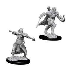 Wizkids Pathfinder Battles Deep Cuts Unpainted Male Half-Elf Ranger Figure Set