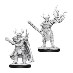 Wizkids Pathfinder Battles Deep Cuts Unpainted Male Half-Orc Druid Figure Set
