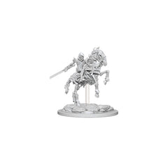 Wizkids Pathfinder Battles Deep Cuts Unpainted Skeleton Knight On Horse Figure Set