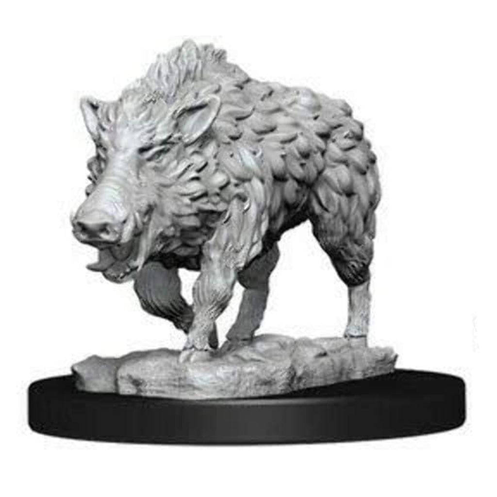 Wizkids Pathfinder Battles Deep Cuts Unpainted Wild Boar Figure Set