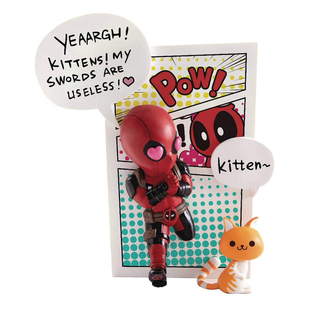 Beast Kingdom Marvel Comics Deadpool Mini Egg Series Attack Wall Figure