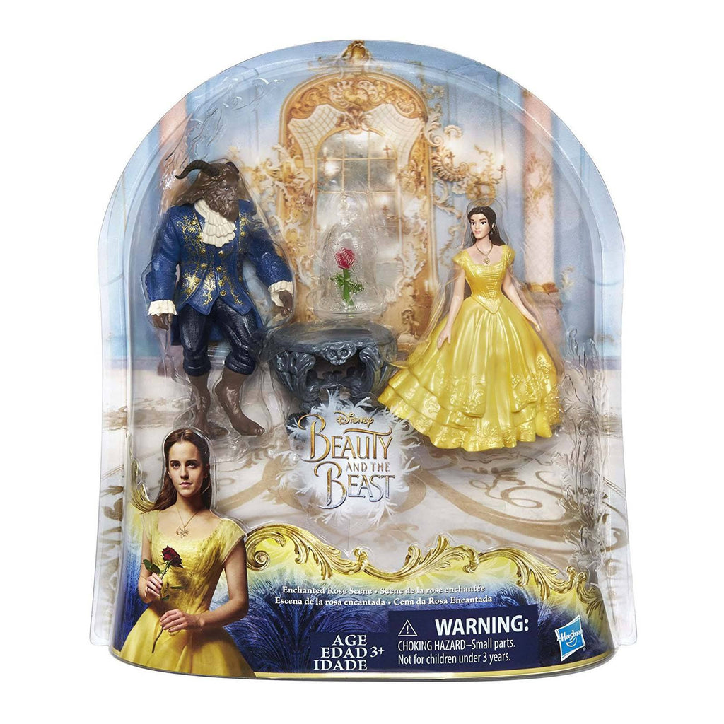 Disney Beauty And The Beast Enchanted Rose Figure Set