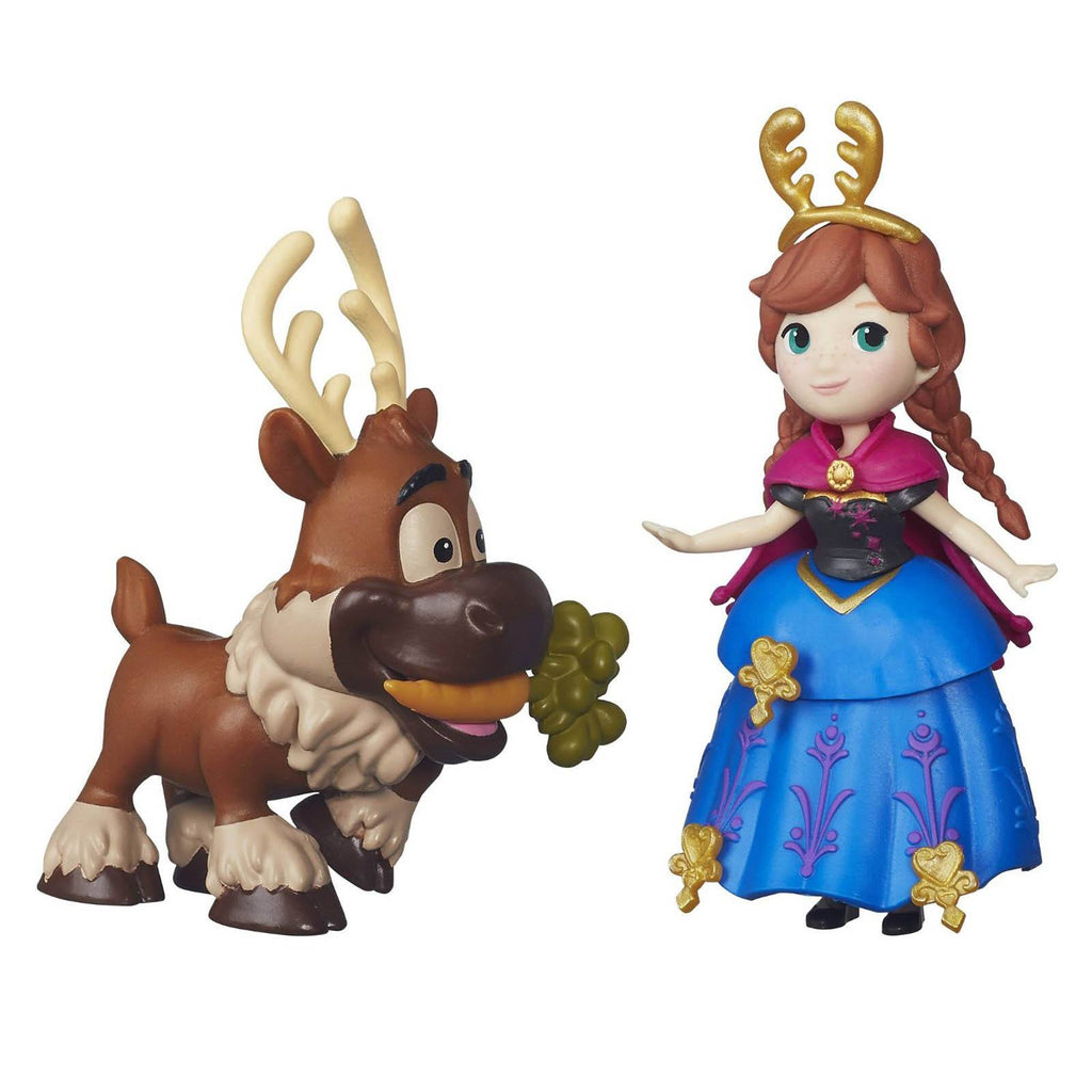 Disney Frozen Little Kingdom Anna And Sven Mini Figures