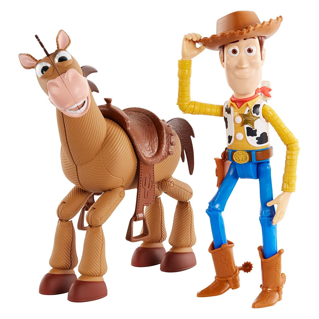 Disney Toy Story 4 Woody And Bullseye Adventure Action Figure Set