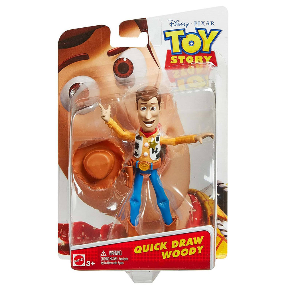 Disney Toy Story Quick Draw Woody 4 Inch Action Figure