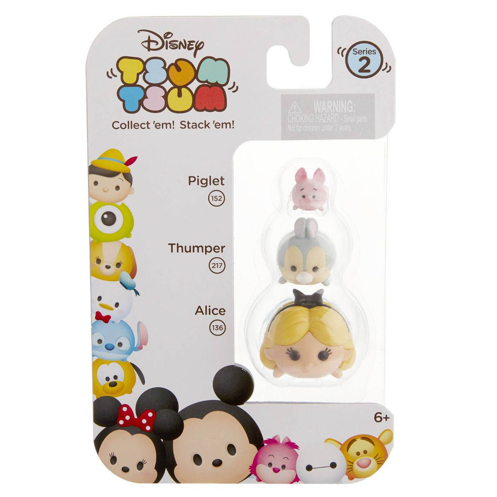 Disney Tsum Tsum Series 2 Piglet Thumper Alice Figures 3 Pack