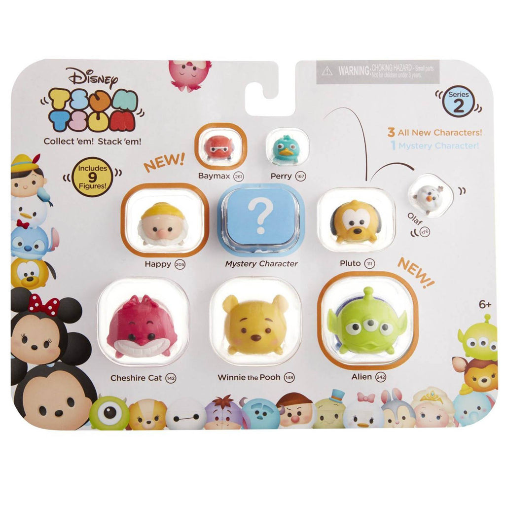 Disney Tsum Tsum Series 2 Style 1 Figures 9 Pack