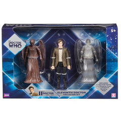 Doctor Who Eleventh Doctor With Angels Collector Action Figure Set - Radar Toys