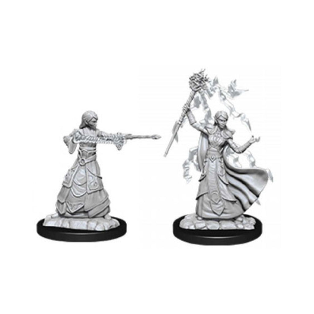 Action Figures - Dungeons And Dragons Female Elf Wizard Nolzur's Miniatures